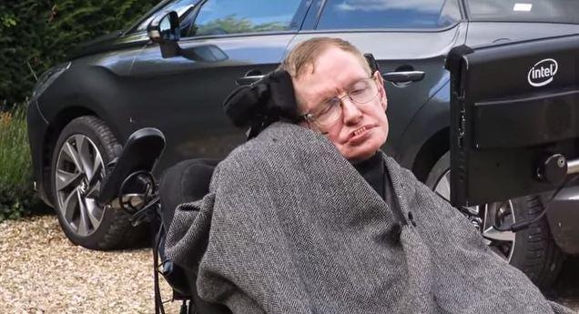 Stephen Hawking has done the ice bucket challenge
