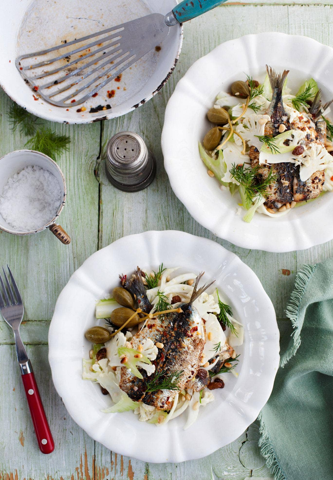 Bill recreates the Sicilian way of life with a sardine, cauliflower and fennel salad