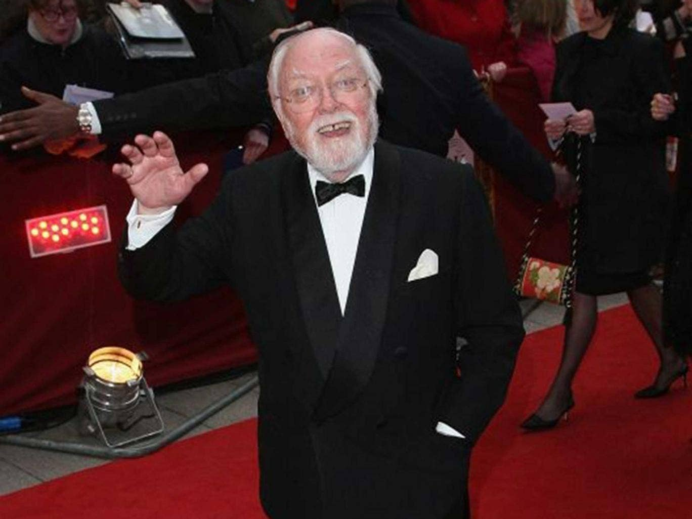 Richard Attenborough, who died on 25 August, attends a film premiere