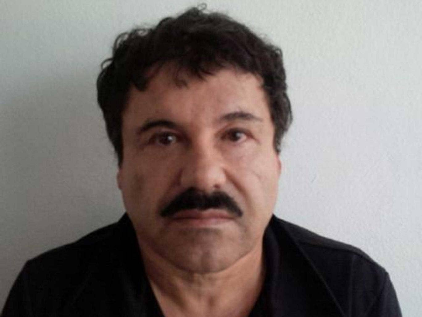 Joaquin 'El Chapo' Guzman, 57, after his capture in February this year