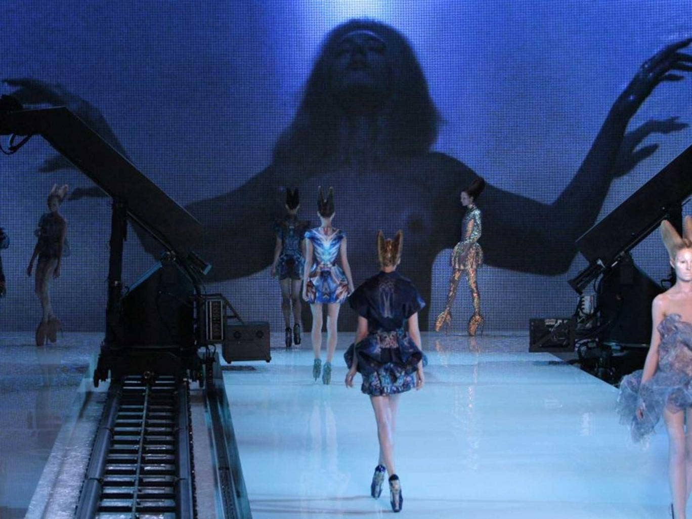 Brave step: A live collection  from Alexander McQueen whose internet show crashed because of high demand