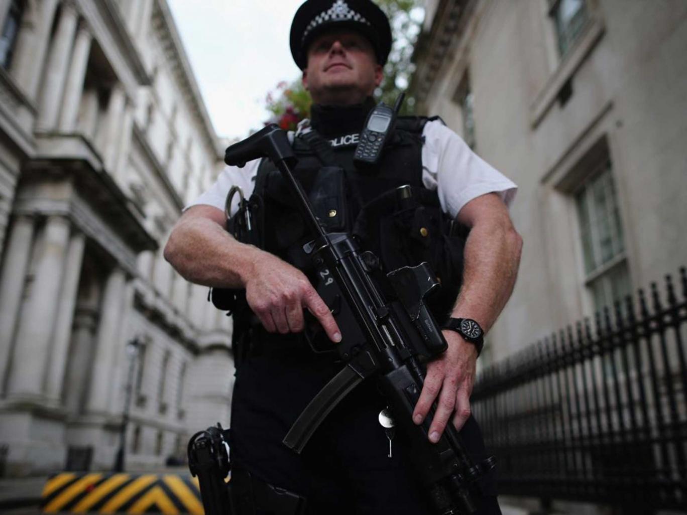 Power talks: Police guard Downing Street