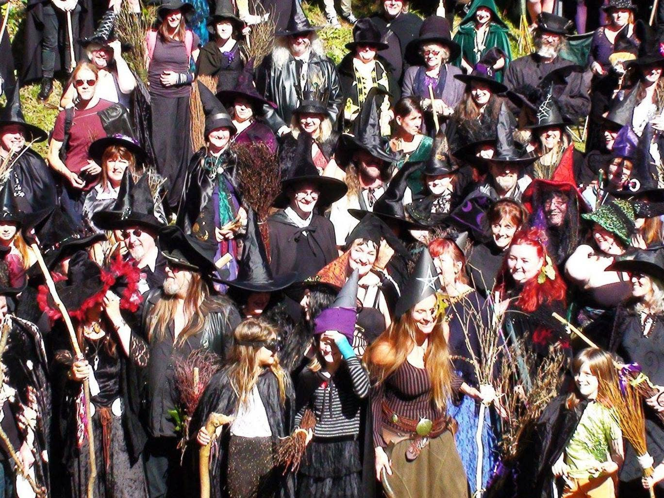 The Grand Witches' Tea Party at Rougemont Castle in Exeter remembered the persecution of women