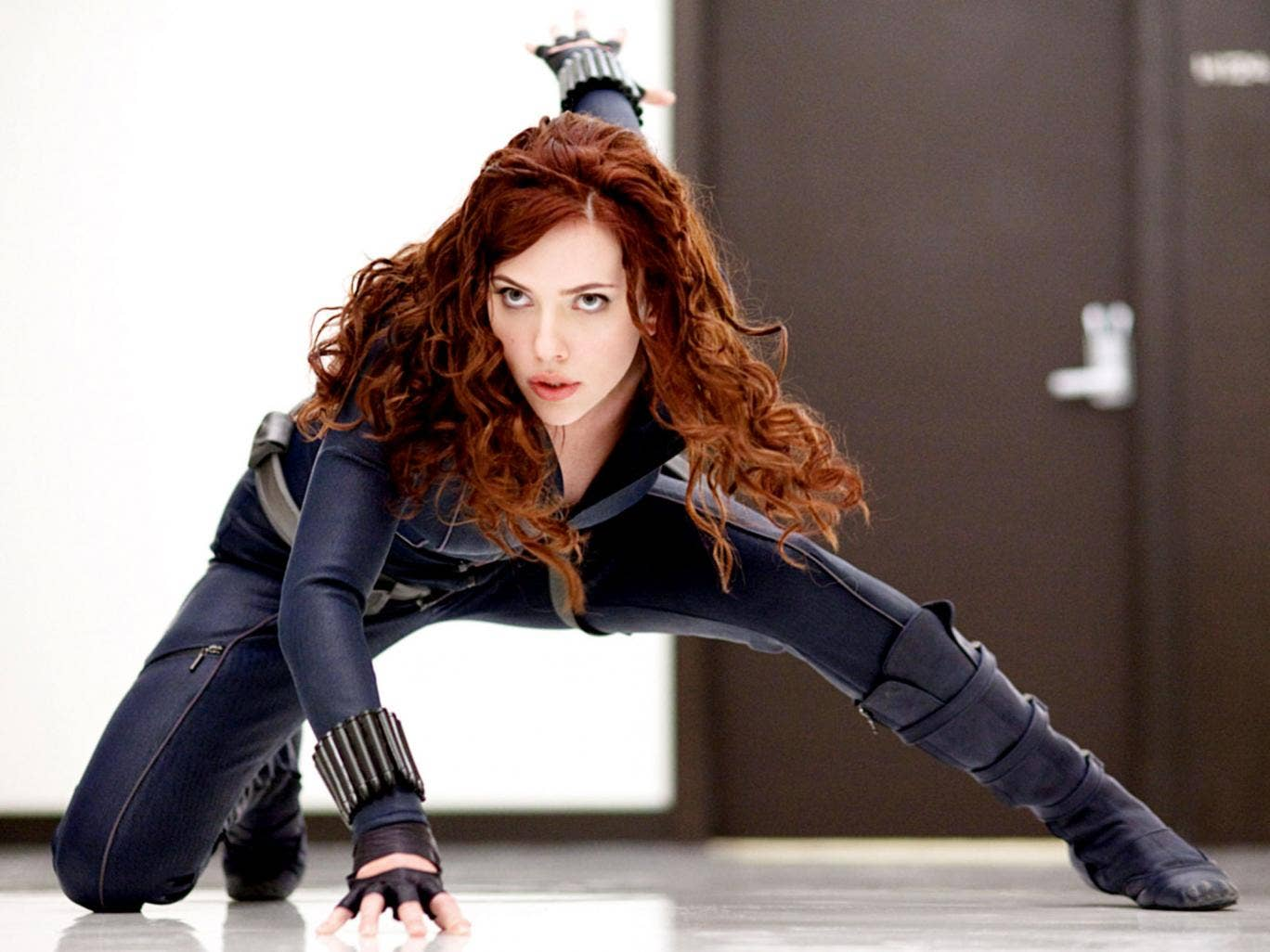 Scarlett Johansson stars as the Black Widow in 2010's Iron Man 2