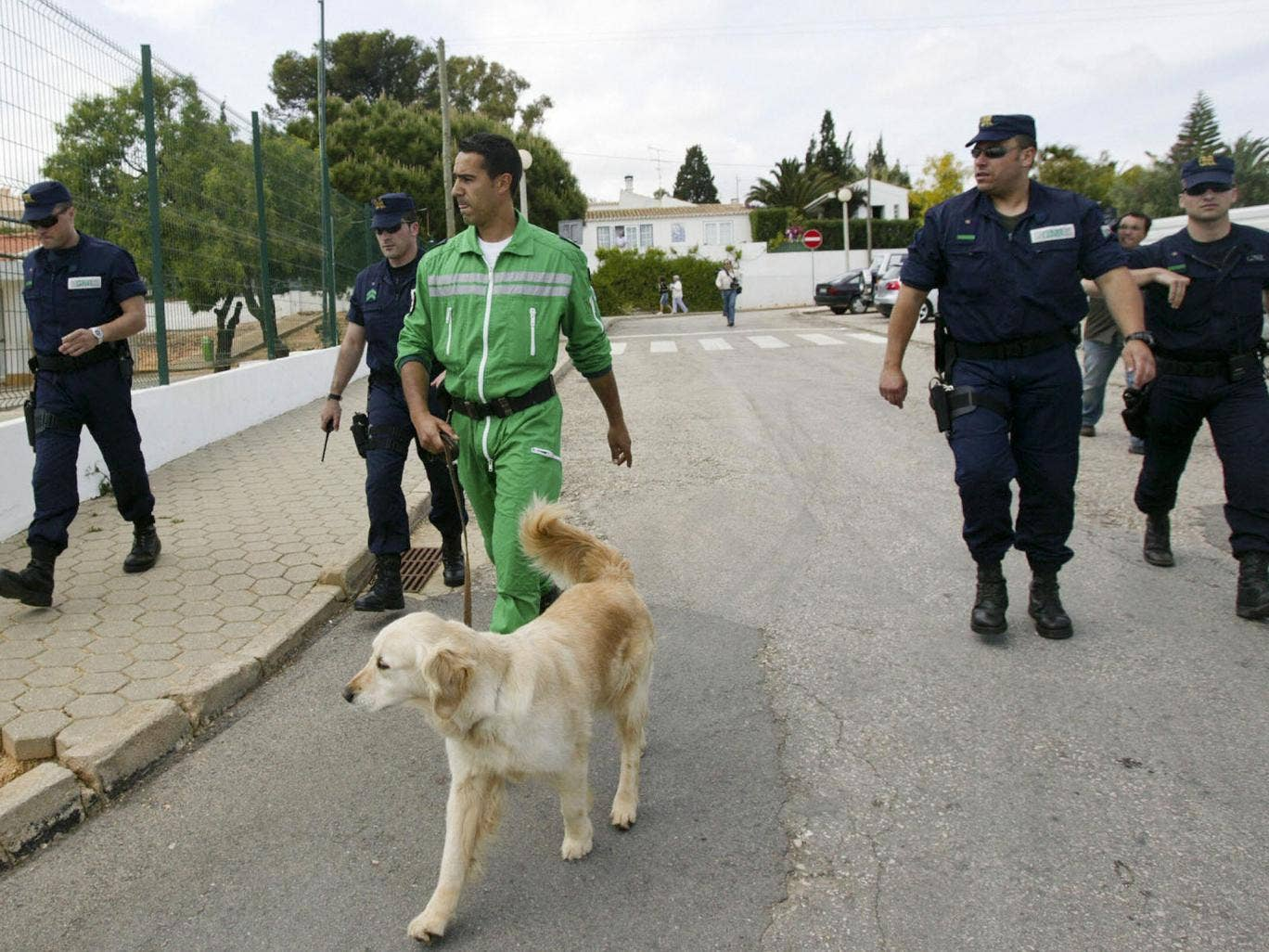 Dozens of Portuguese police carried out the initial search for Madelaine McCann in Praia de Luz when she disappeared in 2007