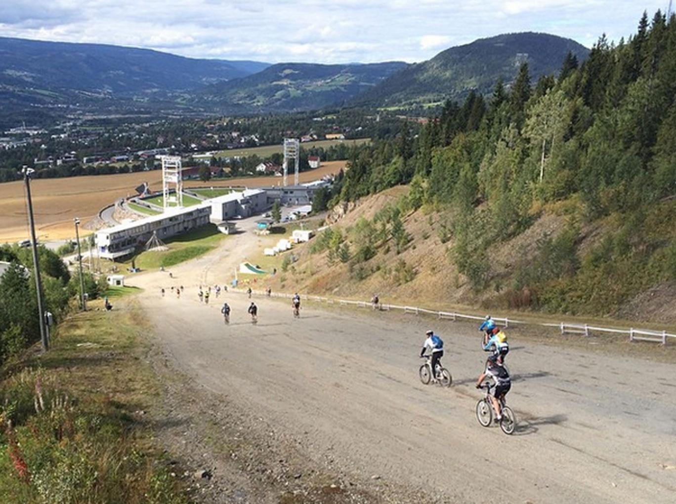 The Fredagsbirken biking event in Norway