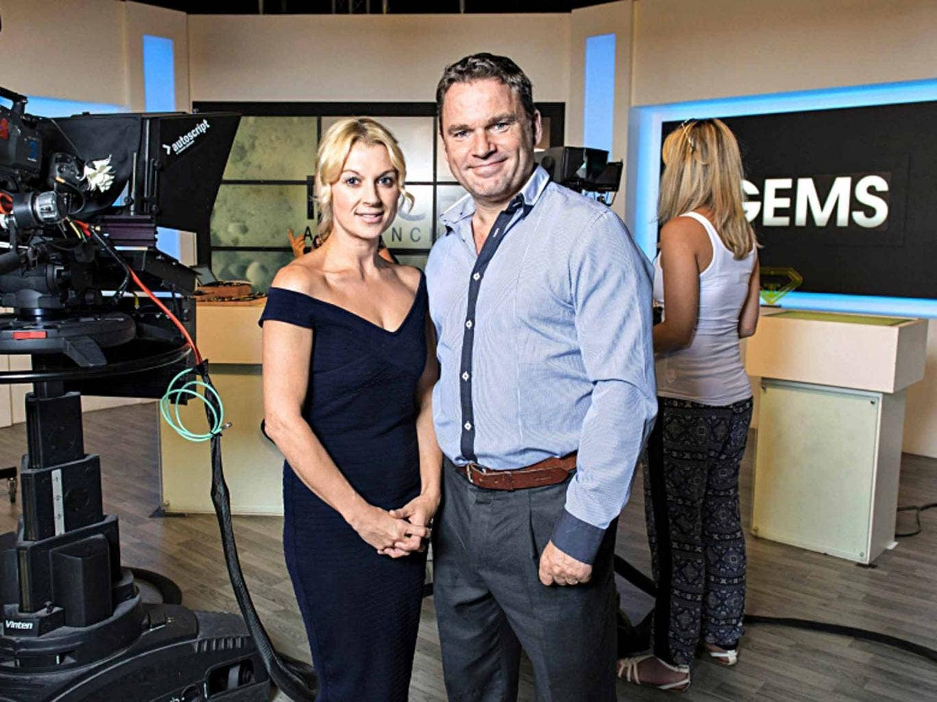 Precious moments: husband-and-wife team Sarah and Steve Bennett in 'Gems TV'