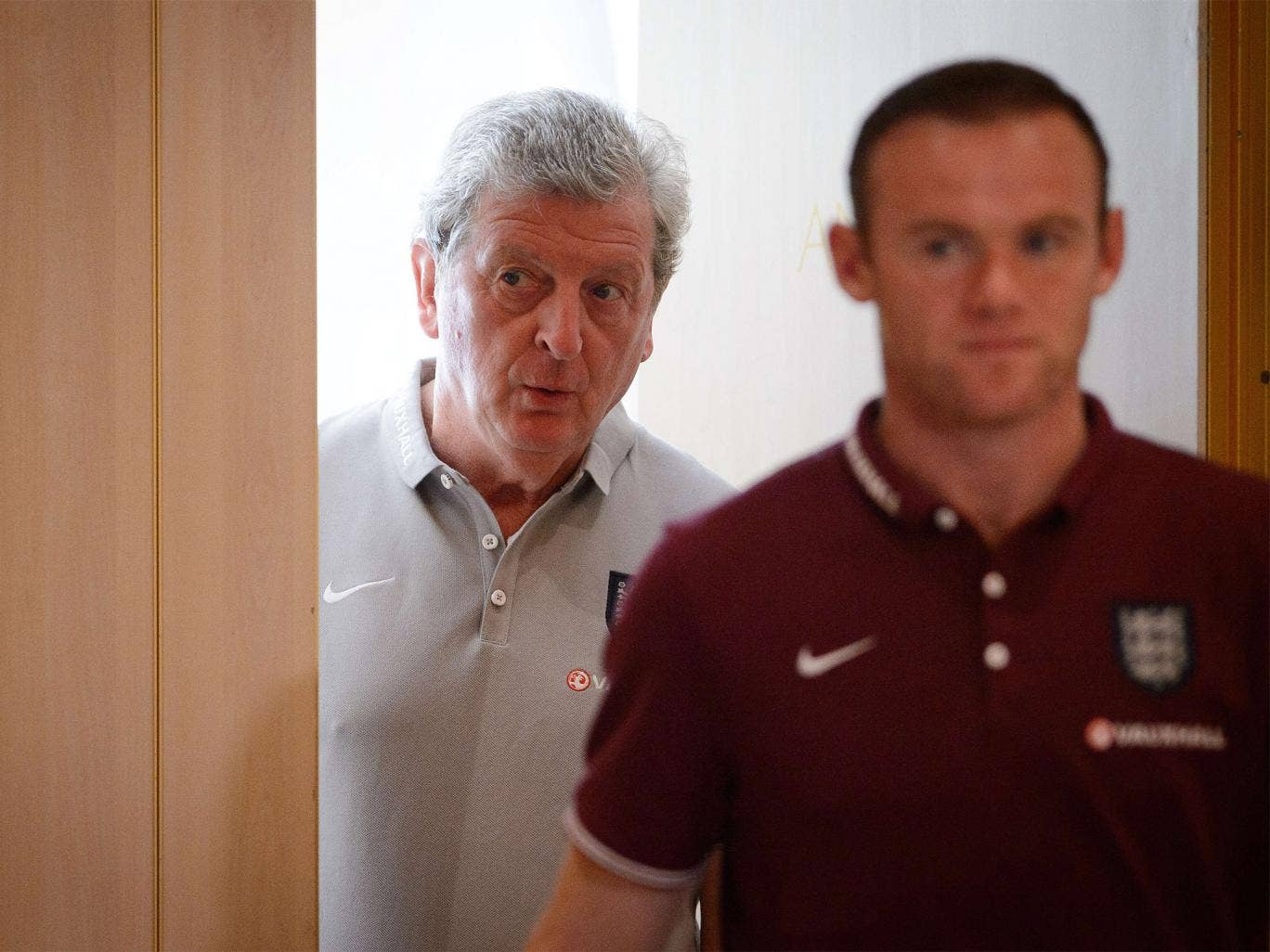 Roy Hodgson, left, urged his young side to seize the chance to prove themselves as internationals