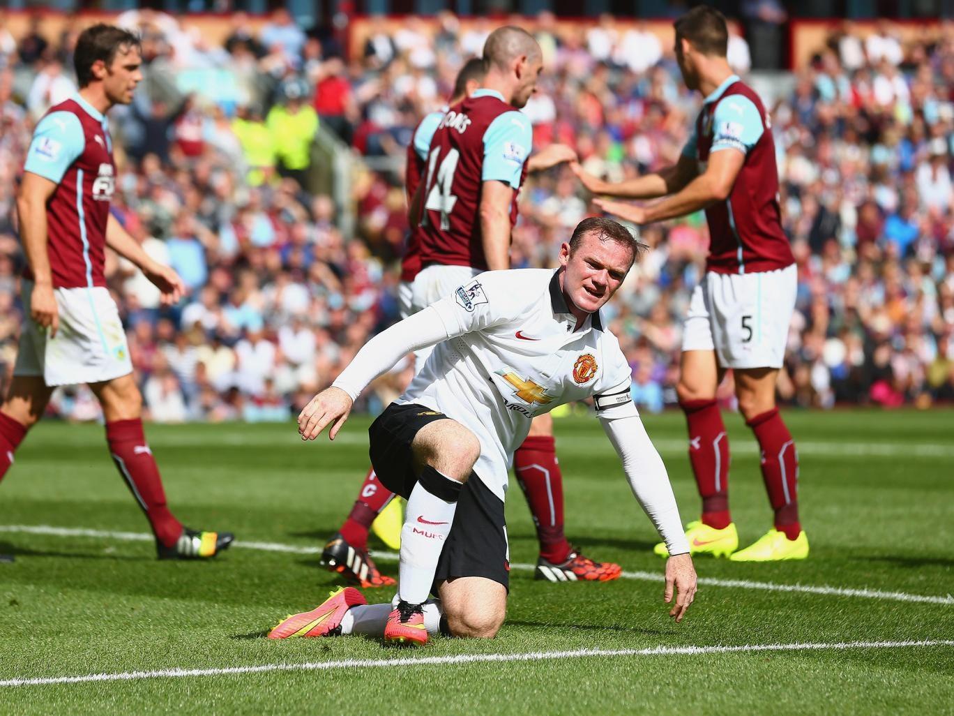 Wayne Rooney in action against Burnley