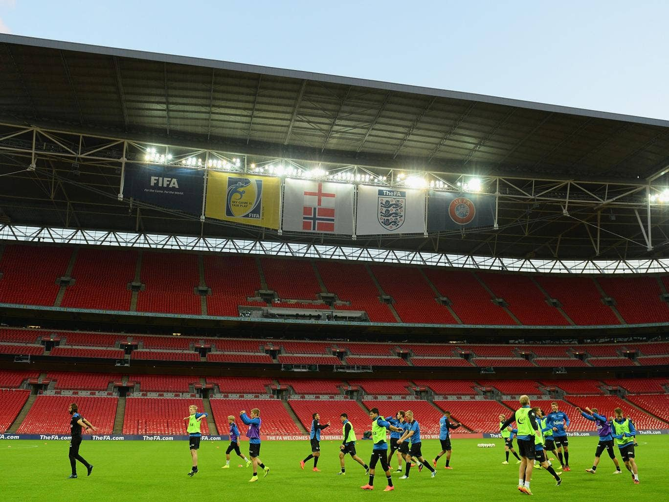 A view of Wembley Stadium prior to England vs Norway