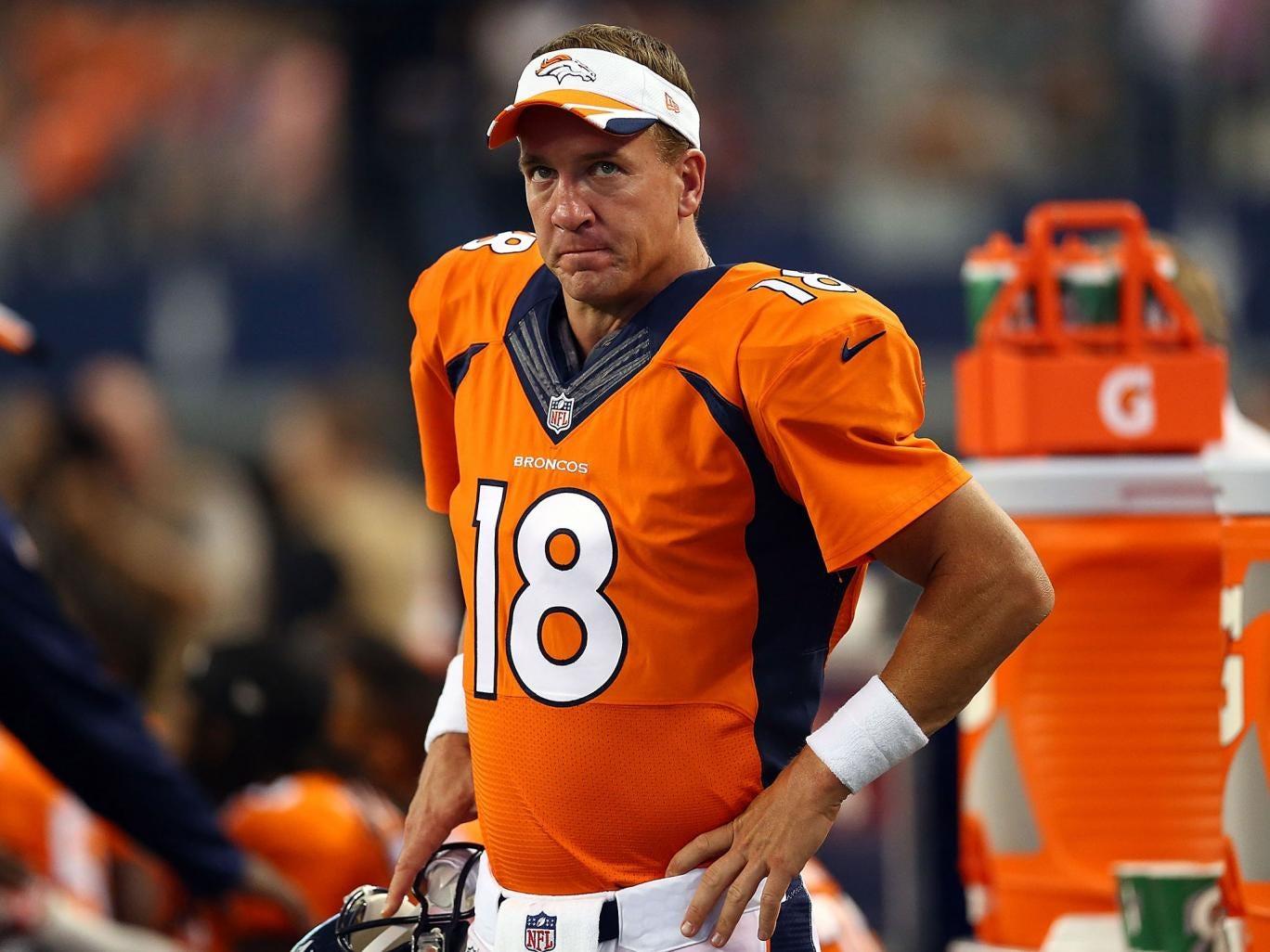 Denver Broncos quarter-back Peyton Manning