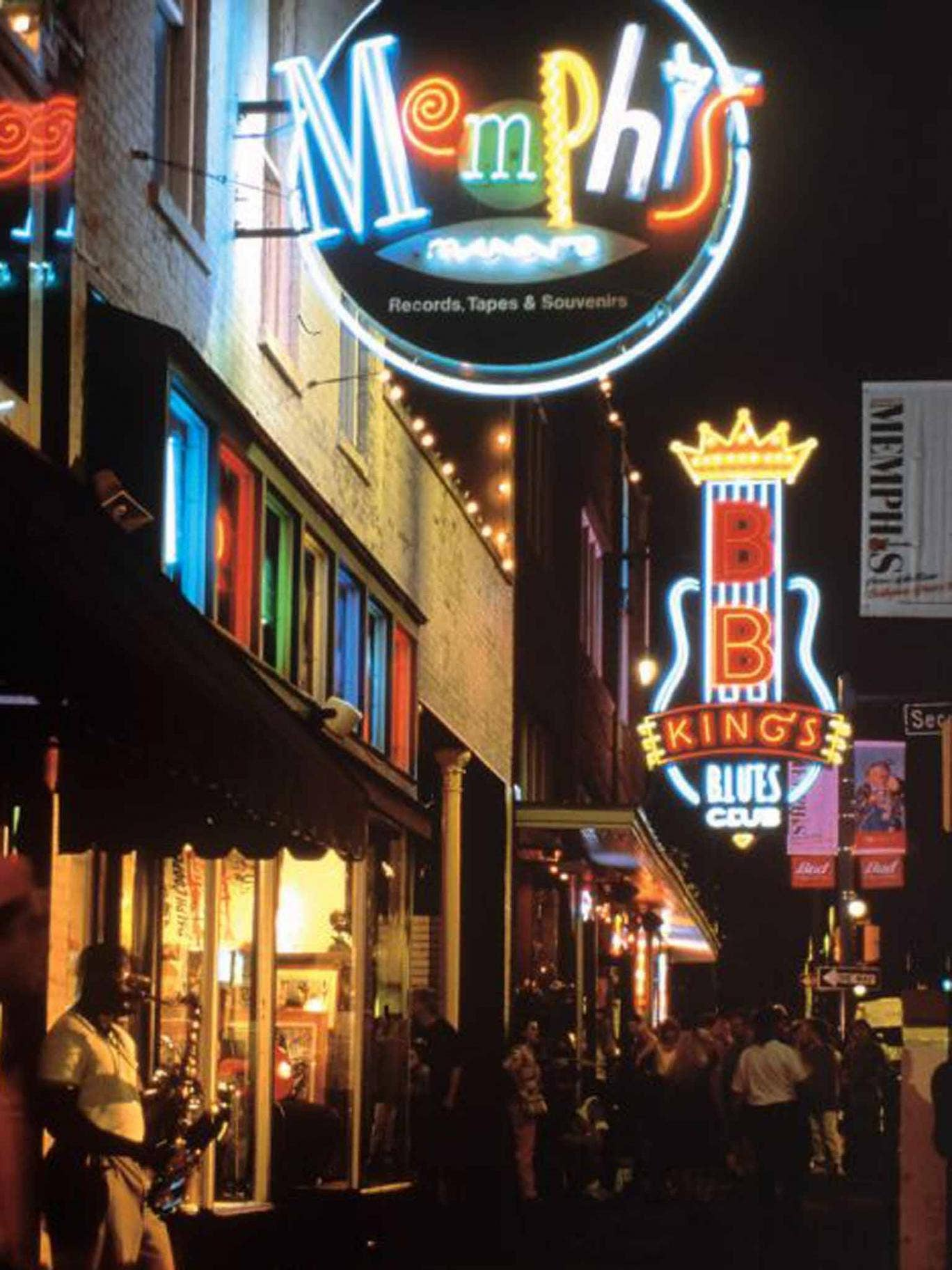 Blues trail: Beale Street in Memphis, Tennessee
