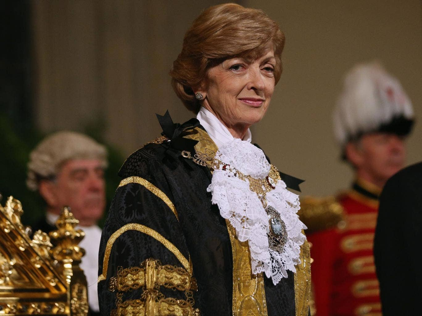 Lord Mayor of London Fiona Woolf at the Lord Mayor's Banquet in November 2013