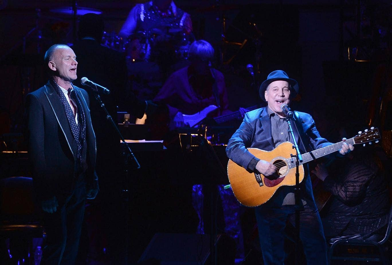 Sting and Paul Simon on stage The Sting
