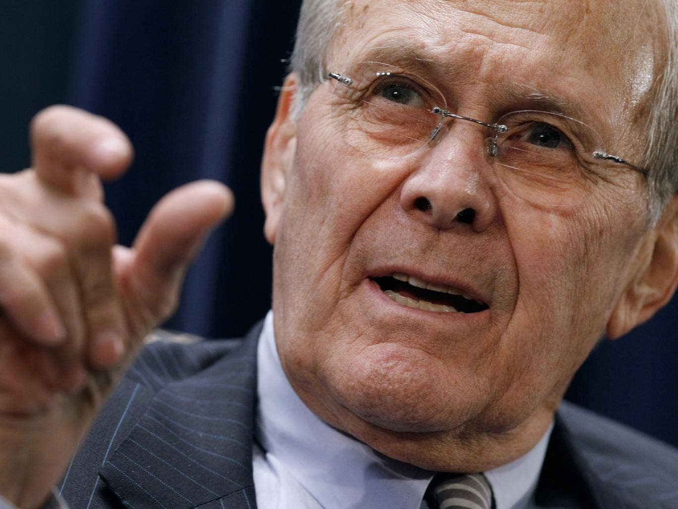 Donald Rumsfeld has a Churchill-themed Solitaire app