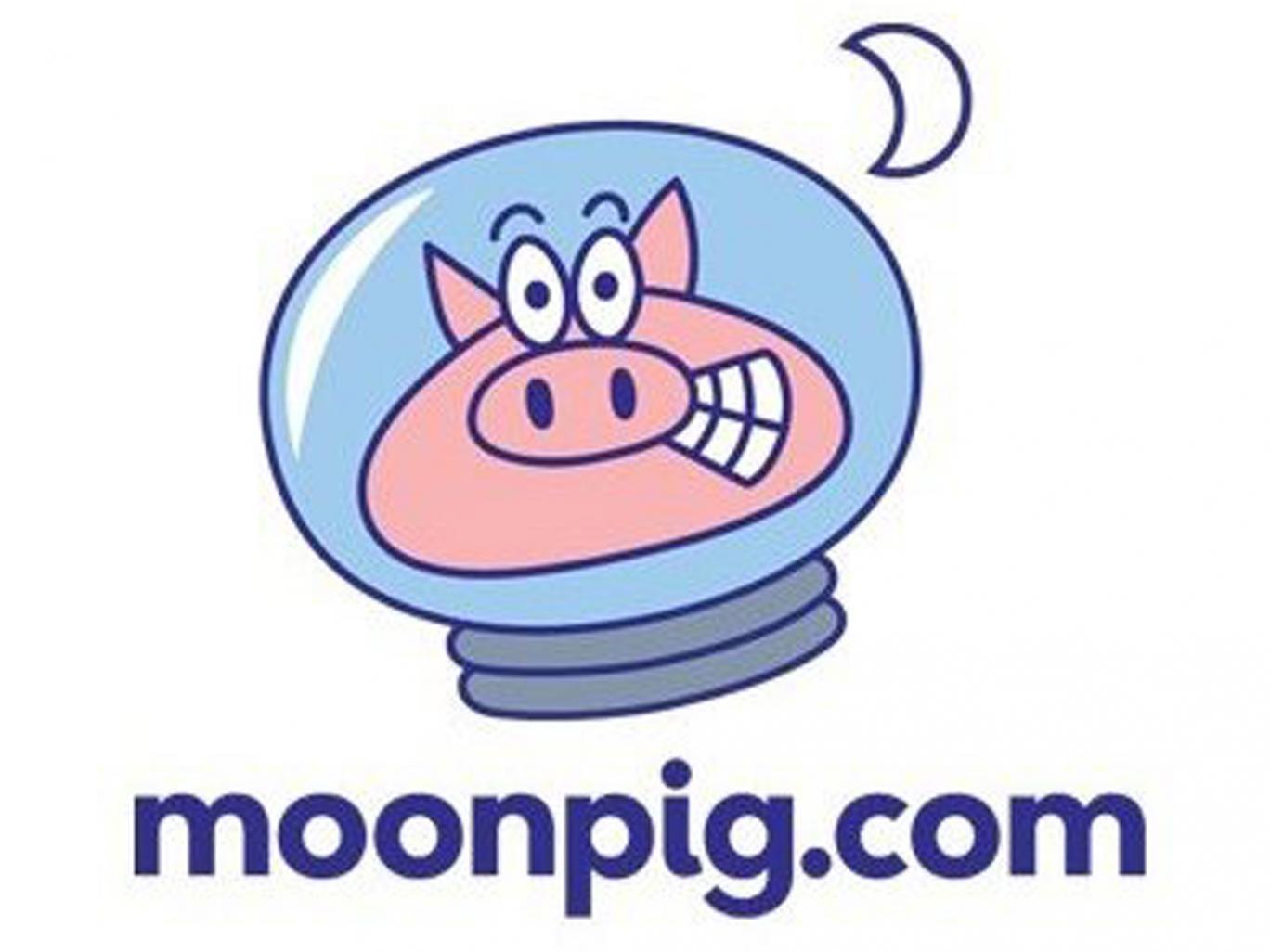 The Moonpig logo Moonpig