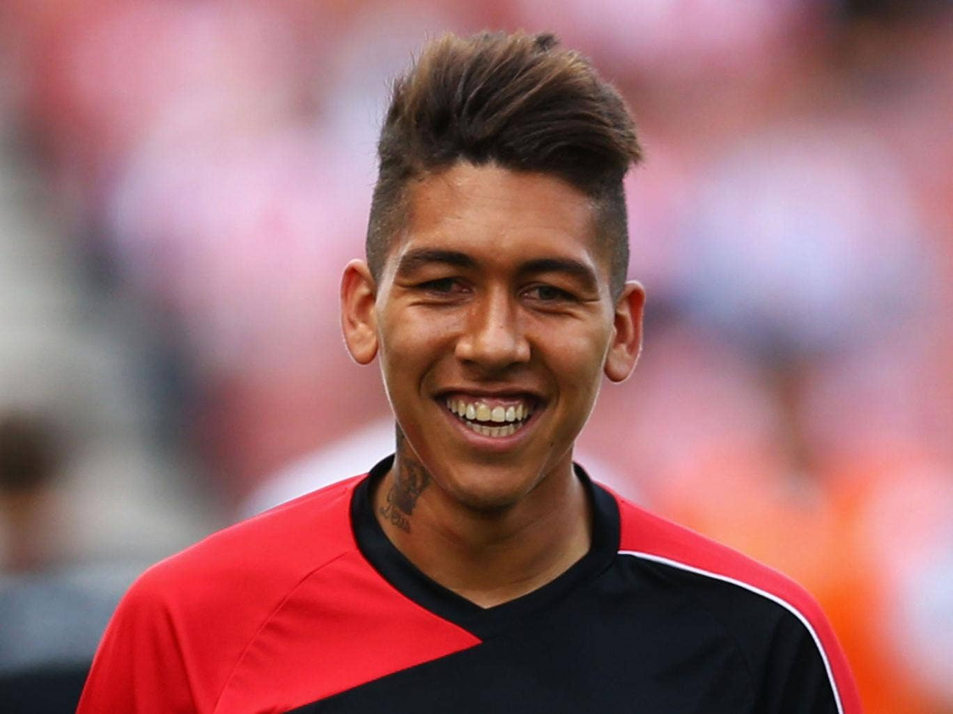 roberto firmino scores hat trick for liverpool in friendly