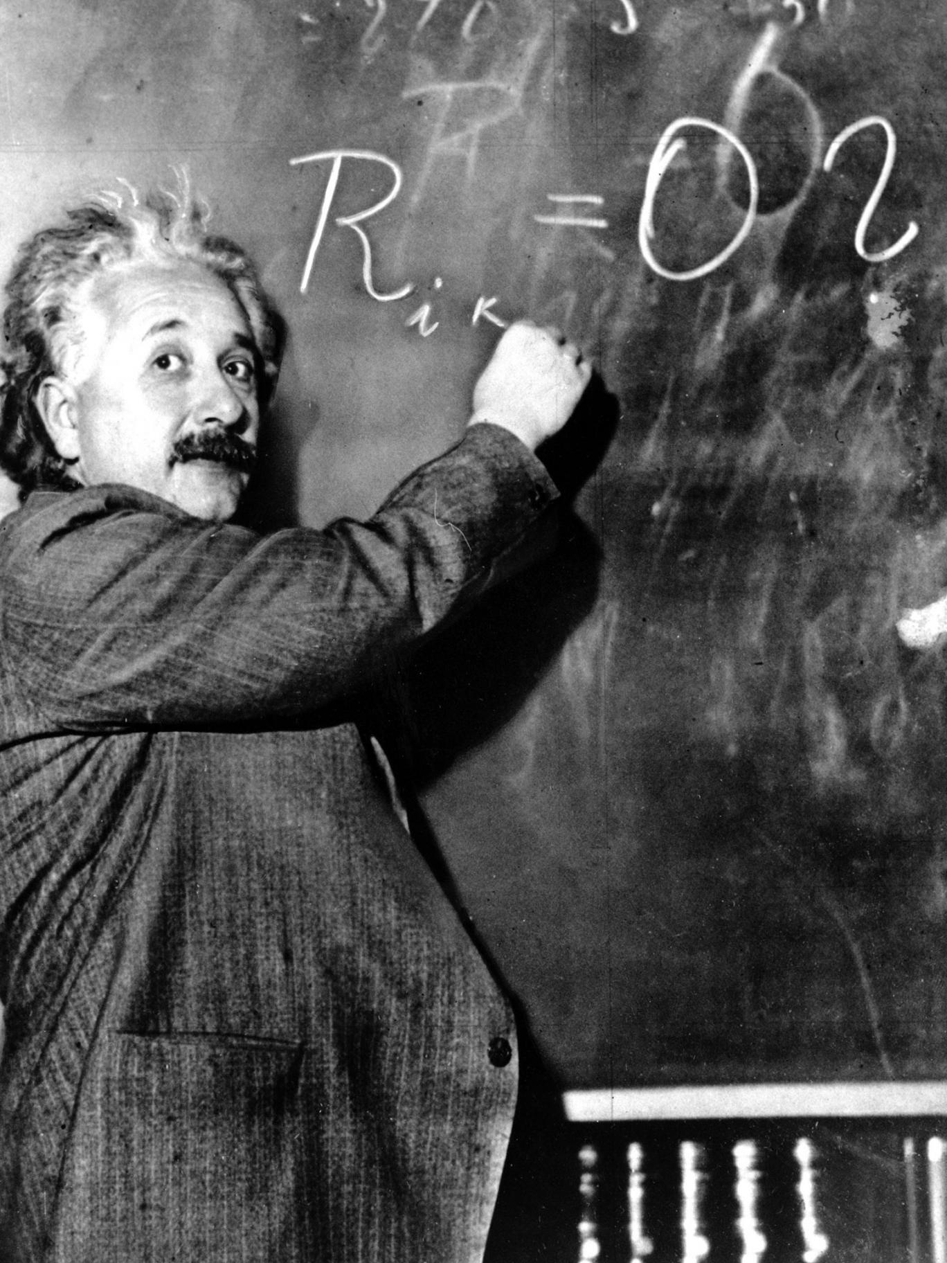 Immersing himself in the problem: Dr Albert Einstein in 1931