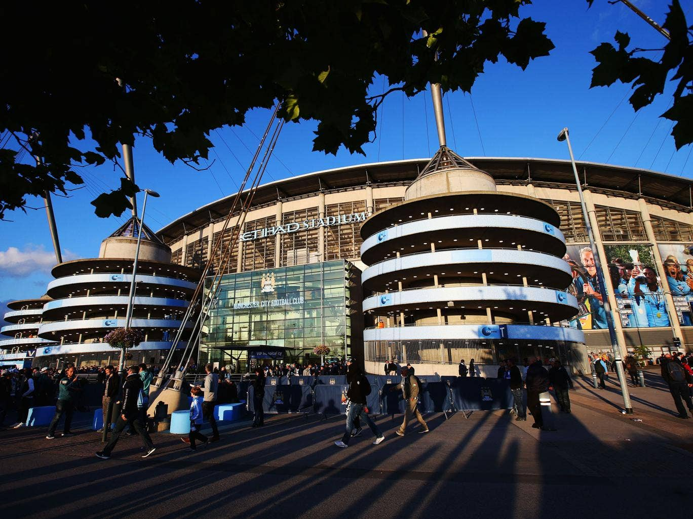 A view of Manchester City's Etihad Stadium
