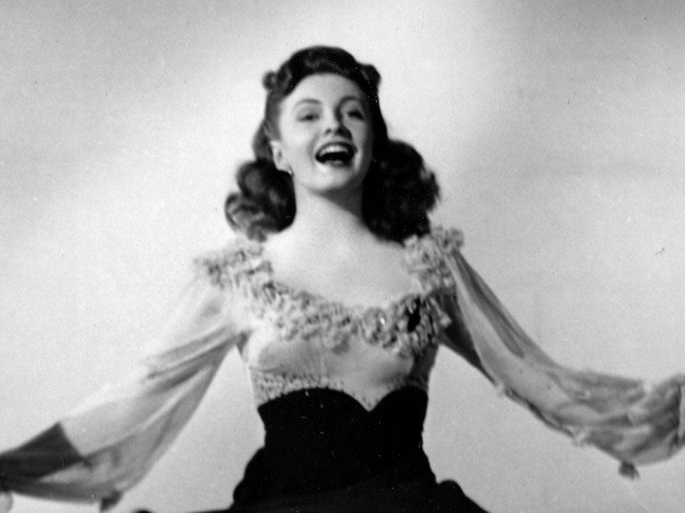 """Joan Leslie performs a dance routine from the 1943 movie """"The Sky's ..."""