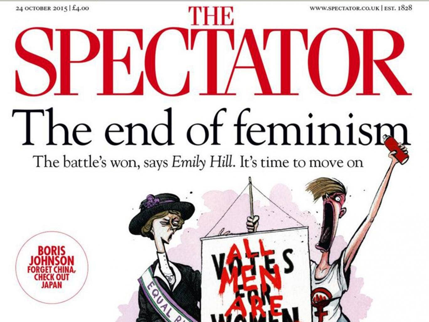 The spectator declares the end of feminism but not everyone agrees