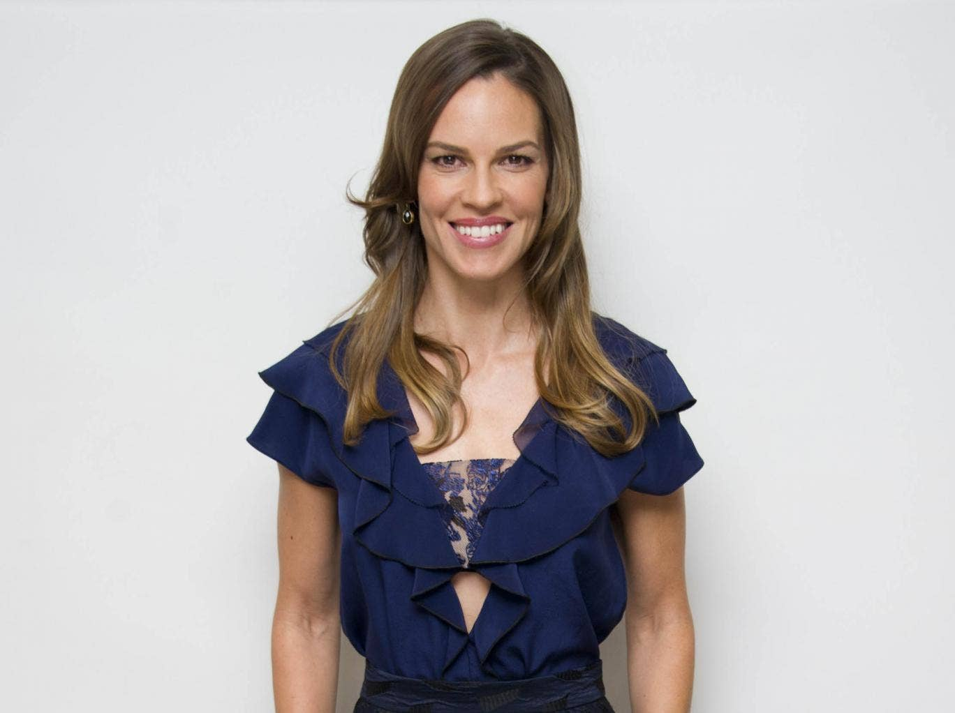Hilary Swank interview...
