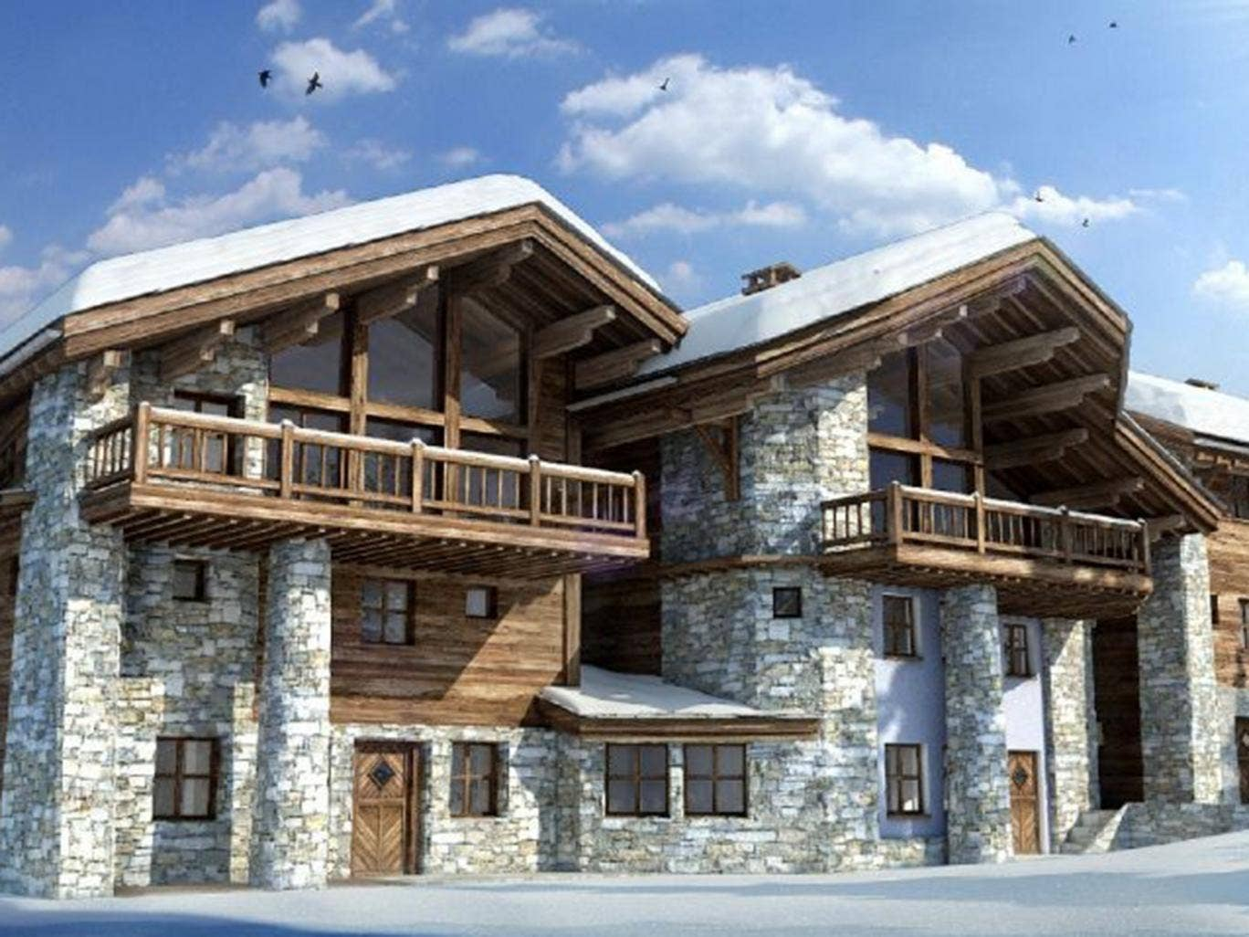 Chalet papillon val d is re for French chalet house plans