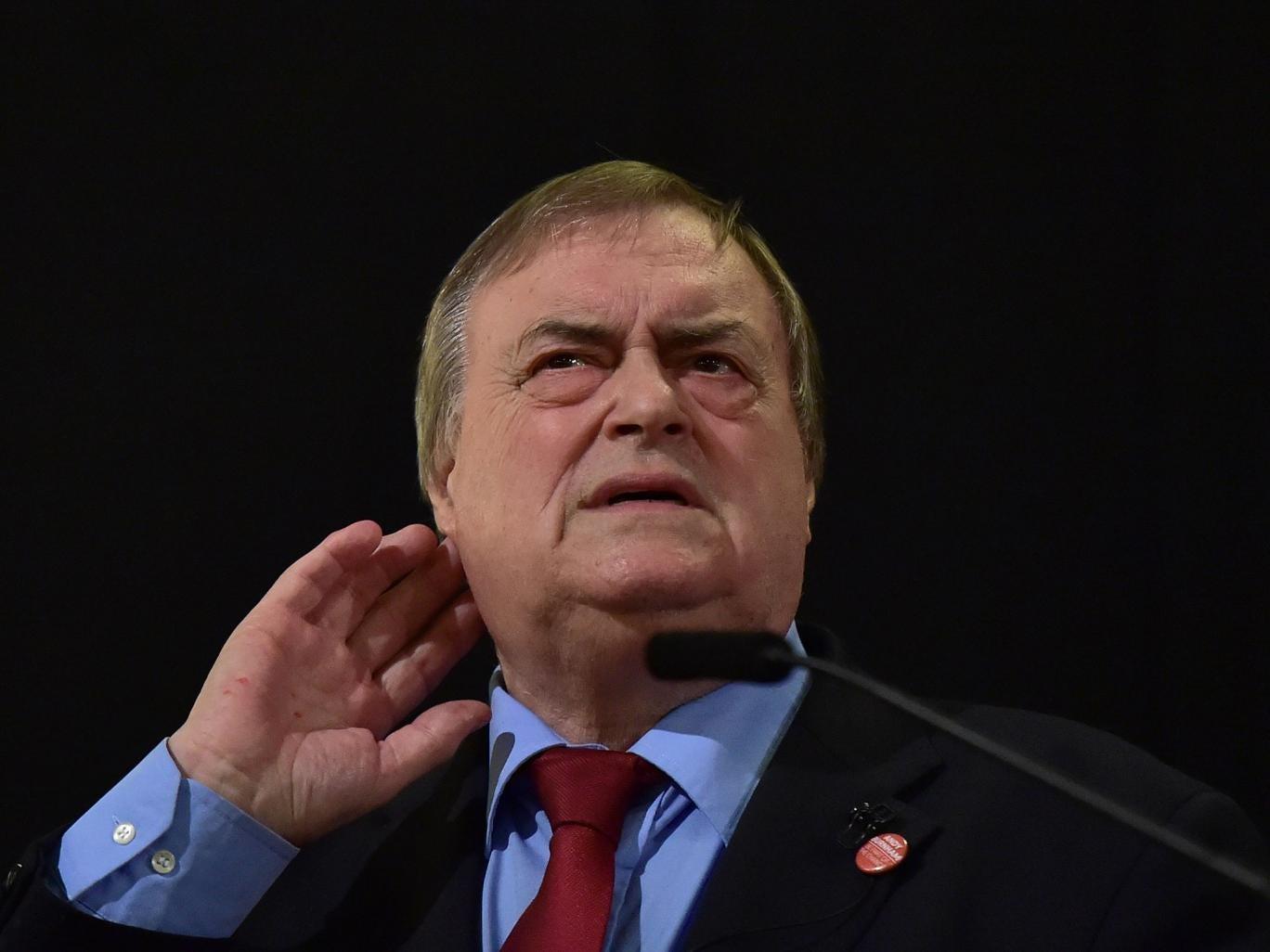 Former Labour Party deputy Prime Minister John Prescott