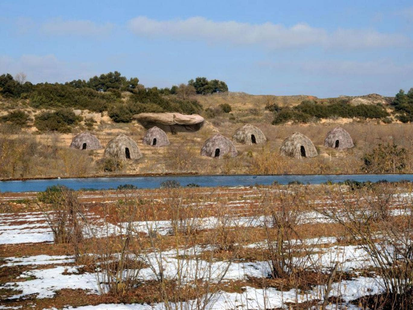 A digital reconstruction of the Moli del Salt campsite built by hunter-gatherers