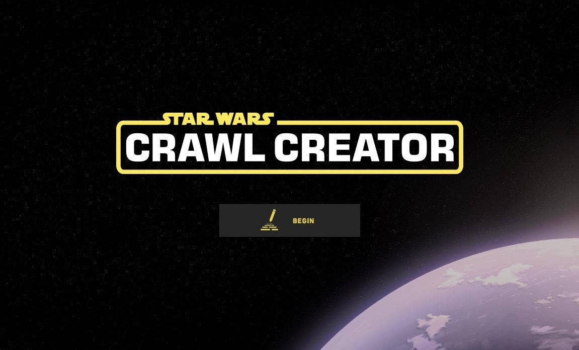 Star Wars Crawl Creator Site Lets You Write Your Own