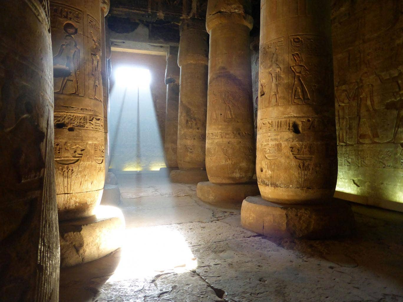 Joann Fletcher's team was allowed to film ancient artefacts including the Seti I temple in Abydos