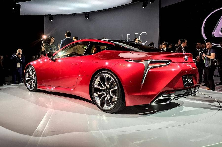 lexus lc 500 sports coupe revealed brand pursues sportier image motoring news lifestyle. Black Bedroom Furniture Sets. Home Design Ideas
