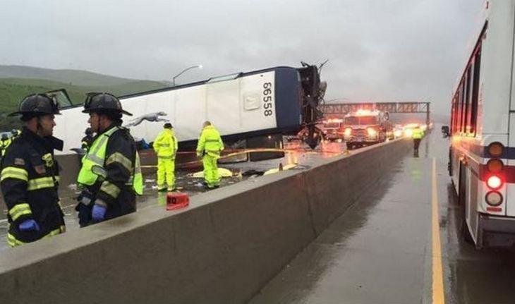 2 dead, several injured in Hwy 101 San Jose bus crash