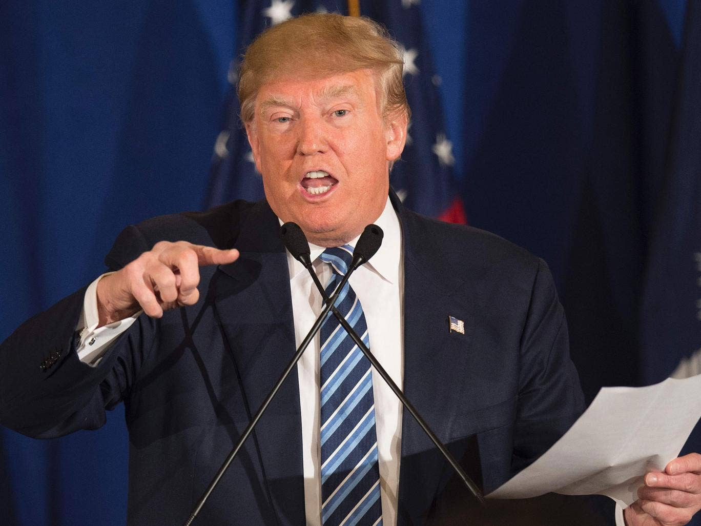 Donald Trump: Republican presidential candidate backed Iraq war in 2002 interview