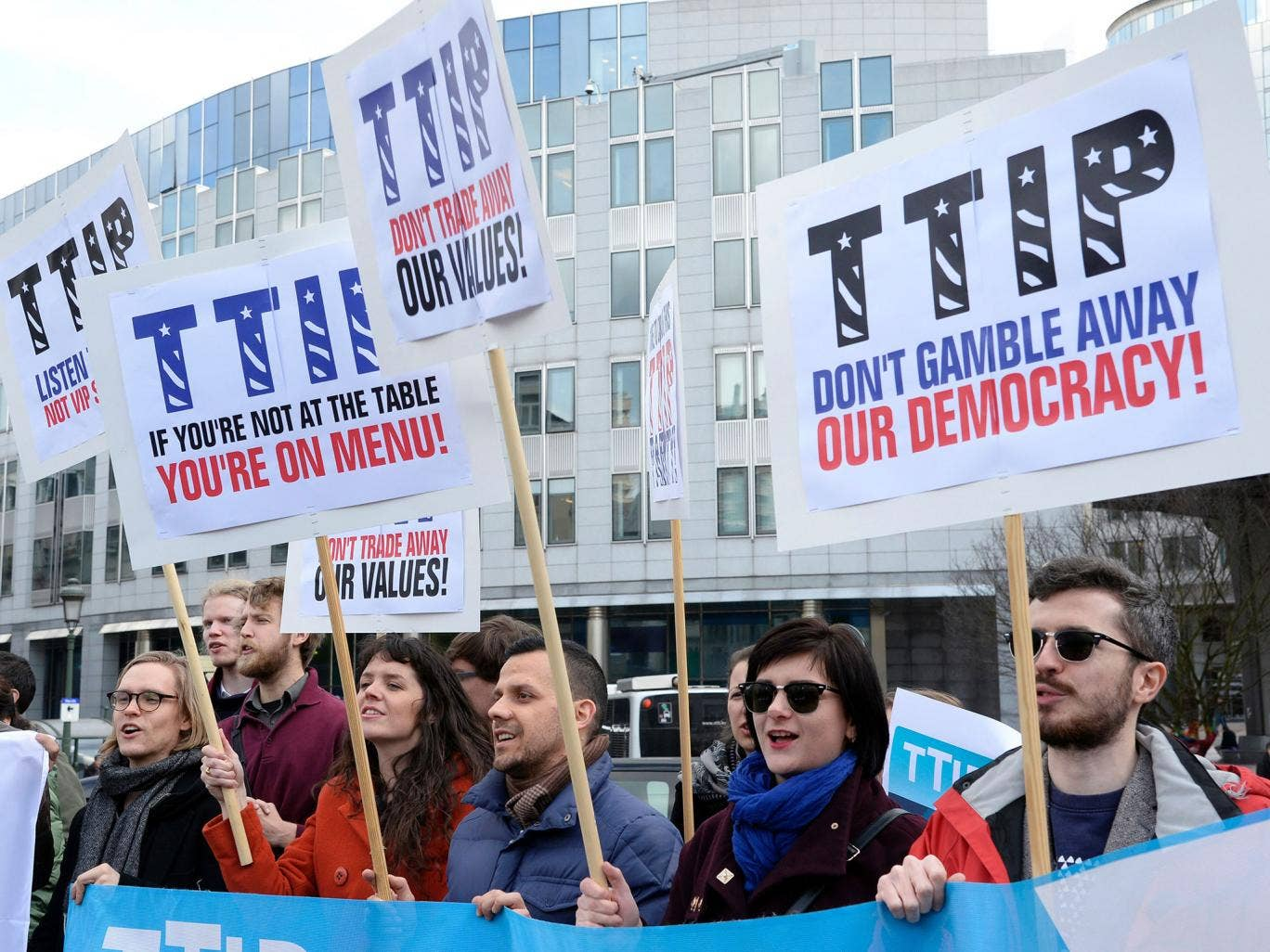 Protests over the TTIP