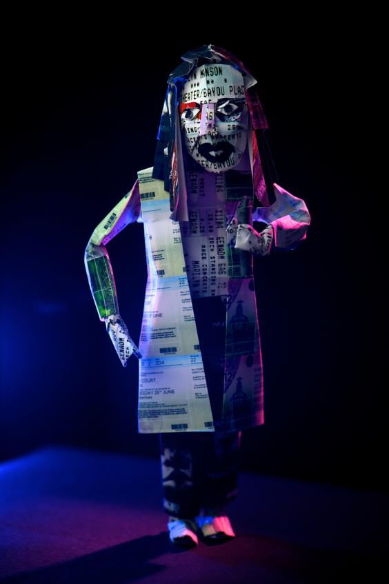 Marilyn Manson created out of tickets to celebrate the launch of StubHub's Let The Ticket Live exhibition.jpg