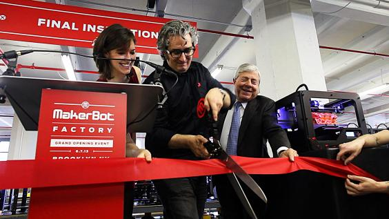 PTL Bre Pettis of Makerbot Cuts Ribbon to New Factory.jpg