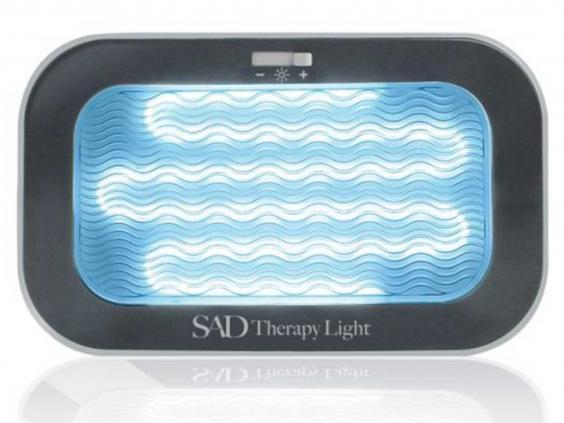 daylight lamp that uses blue spectrum rather than harsh white lights. Black Bedroom Furniture Sets. Home Design Ideas