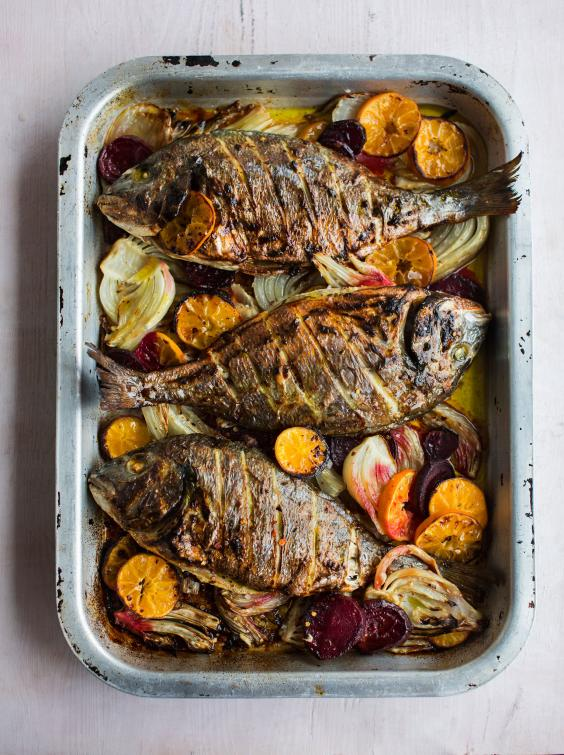 Bill granger recipes our chef creates an italian inspired for Christmas eve fish recipes