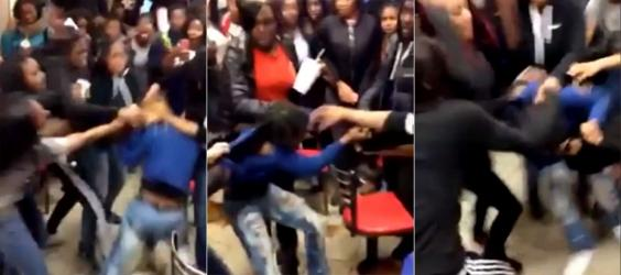 Teenagers attack 15 year old girl in brooklyn mcdonald s as people