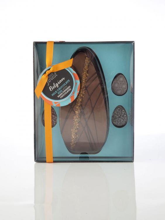 Chocolate Eggs Tesco Chocolate Egg is Decorated