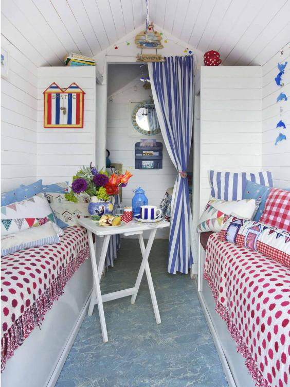 Stay in a beach hut from one of george clarke 39 s amazing for Beach hut style interiors