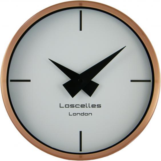 modern brushed copper case clock