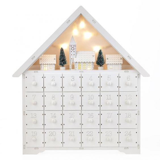 light up wooden advent calendar house calendar template 2016