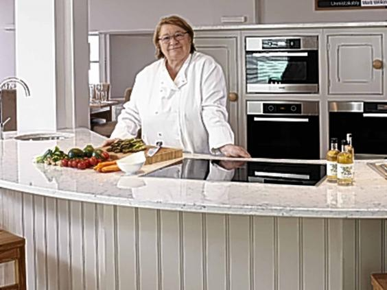 Celebrity chef rosemary shrager cookery