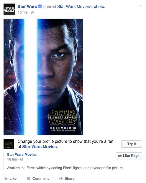 Star Wars: The Force Awakens: Facebook is now letting you ...