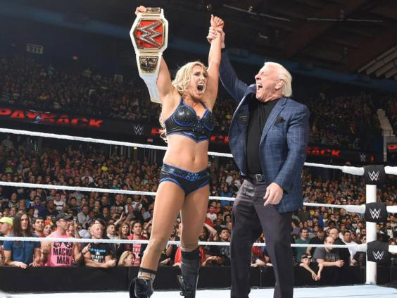 sport general wrestling payback charlotte flair interview womens