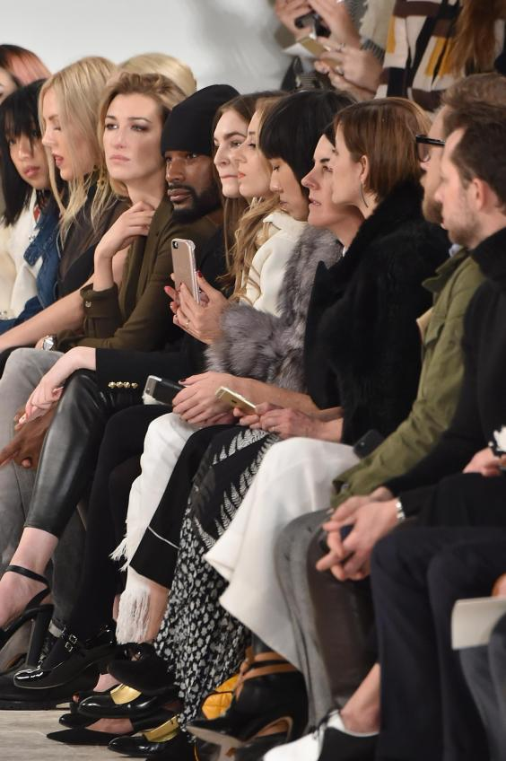 Eva Chen of Instagram (centre) at a Ralph Lauren show (Getty)