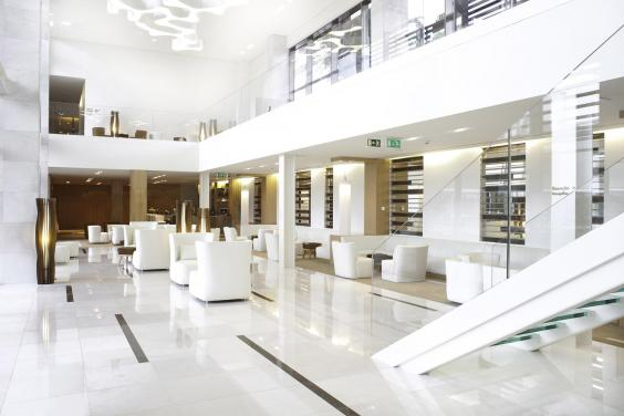The lobby at martinhal cascais the third hotel in the growing chain