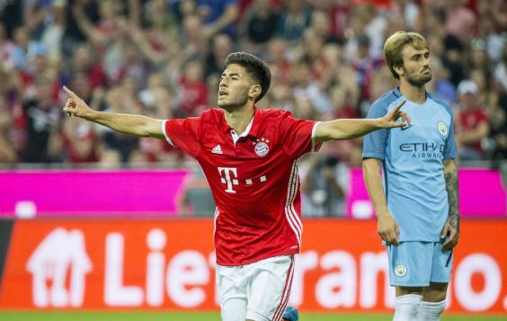 Erdal Oturk celebrates putting Bayern ahead